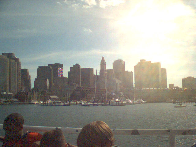 View of Boston from Water Taxi