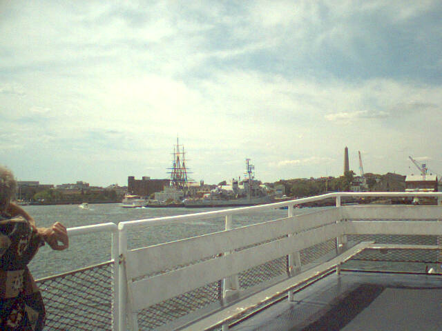 View of USS Constitution from Water Taxi