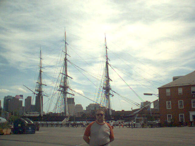 USS Constitution, with unidentified tourist