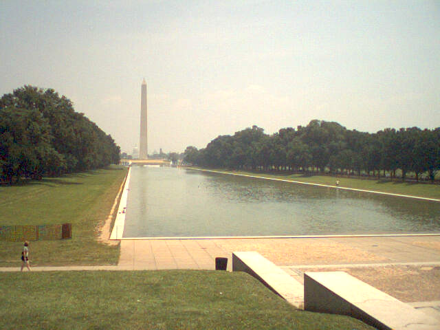 Washington Monument from the steps of the Lincoln